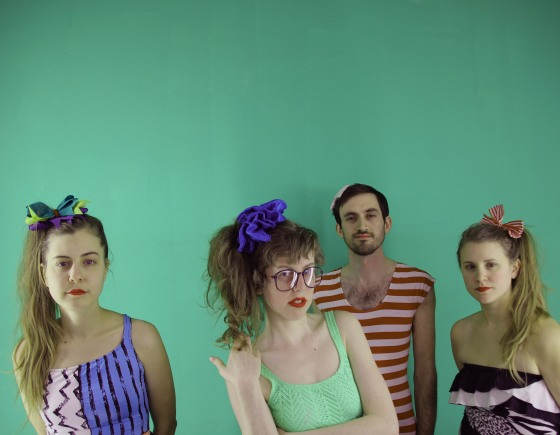 Ramona (center, green top) and her swimmers